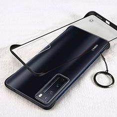 Transparent Crystal Hard Rigid Case Back Cover H01 for Huawei Nova 7 Pro 5G Black