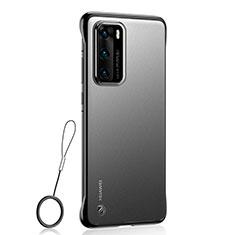 Transparent Crystal Hard Rigid Case Back Cover H01 for Huawei P40 Black