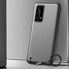 Transparent Crystal Hard Rigid Case Back Cover H01 for Huawei P40 Pro+ Plus Black