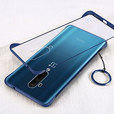 Transparent Crystal Hard Rigid Case Back Cover H01 for OnePlus 7T Pro Blue