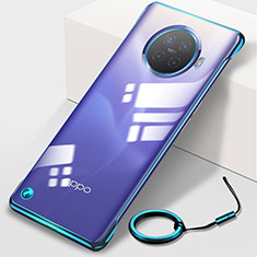Transparent Crystal Hard Rigid Case Back Cover H01 for Oppo Ace2 Blue