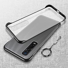Transparent Crystal Hard Rigid Case Back Cover H01 for Oppo Find X2 Pro Black