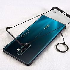 Transparent Crystal Hard Rigid Case Back Cover H01 for Realme X2 Pro Black
