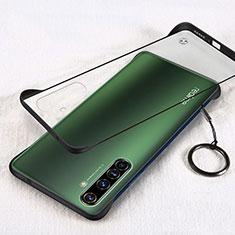 Transparent Crystal Hard Rigid Case Back Cover H01 for Realme X50 Pro 5G Black