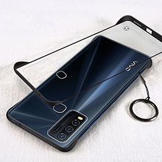 Transparent Crystal Hard Rigid Case Back Cover H01 for Vivo Y50 Black