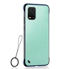 Transparent Crystal Hard Rigid Case Back Cover H01 for Xiaomi Mi 10 Lite Blue