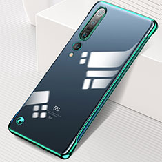 Transparent Crystal Hard Rigid Case Back Cover H01 for Xiaomi Mi 10 Pro Green