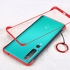 Transparent Crystal Hard Rigid Case Back Cover H01 for Xiaomi Mi 10 Red