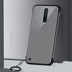 Transparent Crystal Hard Rigid Case Back Cover H01 for Xiaomi Redmi K30 5G Black