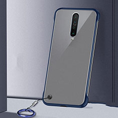 Transparent Crystal Hard Rigid Case Back Cover H01 for Xiaomi Redmi K30 5G Blue