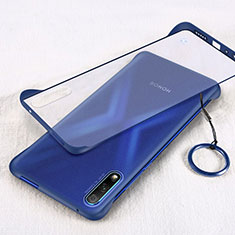 Transparent Crystal Hard Rigid Case Back Cover H02 for Huawei Honor 9X Blue