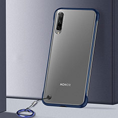 Transparent Crystal Hard Rigid Case Back Cover H02 for Huawei Honor 9X Pro Blue