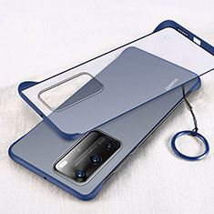Transparent Crystal Hard Rigid Case Back Cover H02 for Huawei P40 Pro Blue