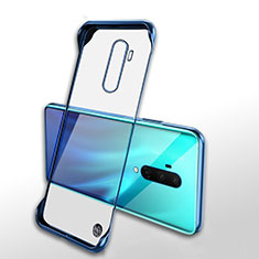 Transparent Crystal Hard Rigid Case Back Cover H02 for OnePlus 7T Pro Blue