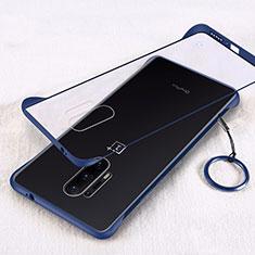 Transparent Crystal Hard Rigid Case Back Cover H02 for OnePlus 8 Pro Blue