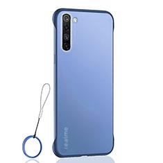 Transparent Crystal Hard Rigid Case Back Cover H02 for Realme X50 Pro 5G Blue