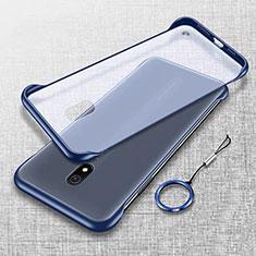 Transparent Crystal Hard Rigid Case Back Cover H02 for Xiaomi Redmi 8A Blue