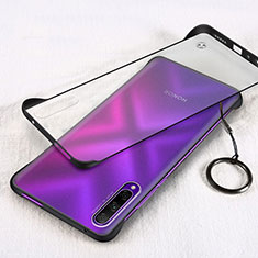 Transparent Crystal Hard Rigid Case Back Cover H03 for Huawei Y9s Black