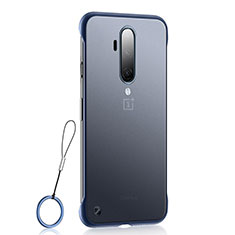 Transparent Crystal Hard Rigid Case Back Cover H03 for OnePlus 7T Pro Blue
