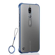 Transparent Crystal Hard Rigid Case Back Cover H03 for Xiaomi Redmi 8 Blue