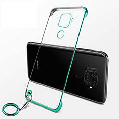 Transparent Crystal Hard Rigid Case Back Cover H04 for Huawei Nova 5z Green