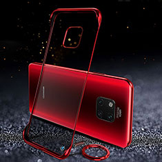 Transparent Crystal Hard Rigid Case Back Cover S01 for Huawei Mate 20 Pro Red