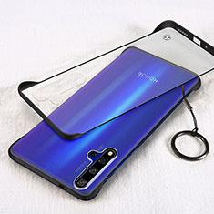 Transparent Crystal Hard Rigid Case Back Cover S01 for Huawei Nova 5T Black
