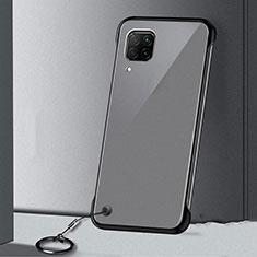Transparent Crystal Hard Rigid Case Back Cover S01 for Huawei P40 Lite Black