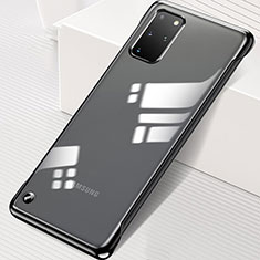 Transparent Crystal Hard Rigid Case Back Cover S01 for Samsung Galaxy S20 Plus 5G Black