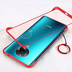 Transparent Crystal Hard Rigid Case Back Cover S01 for Xiaomi Poco F2 Pro Red