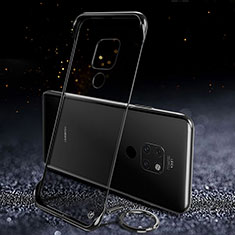 Transparent Crystal Hard Rigid Case Back Cover S02 for Huawei Mate 20 Black