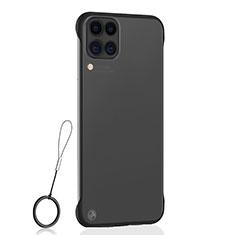 Transparent Crystal Hard Rigid Case Back Cover S02 for Huawei P40 Lite Black