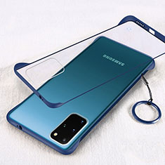 Transparent Crystal Hard Rigid Case Back Cover S02 for Samsung Galaxy S20 Plus 5G Blue