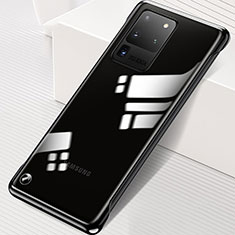 Transparent Crystal Hard Rigid Case Back Cover S02 for Samsung Galaxy S20 Ultra 5G Black