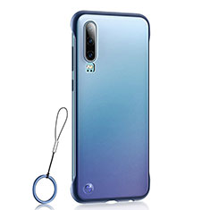 Transparent Crystal Hard Rigid Case Back Cover S04 for Huawei P30 Blue