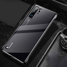 Transparent Crystal Hard Rigid Case Back Cover S04 for Huawei P30 Pro Black