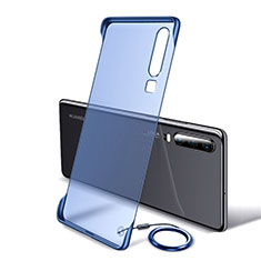 Transparent Crystal Hard Rigid Case Back Cover S05 for Huawei P30 Blue