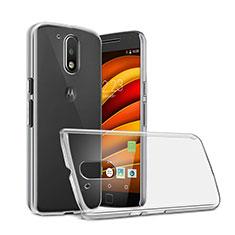 Transparent Crystal Hard Rigid Case Cover for Motorola Moto G4 Clear