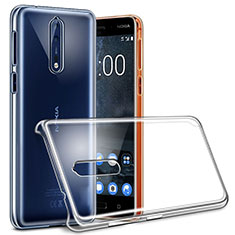 Transparent Crystal Hard Rigid Case Cover for Nokia 8 Clear