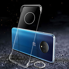 Transparent Crystal Hard Rigid Case Cover for OnePlus 7T Clear