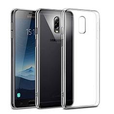 Transparent Crystal Hard Rigid Case Cover for Samsung Galaxy J7 Plus Clear