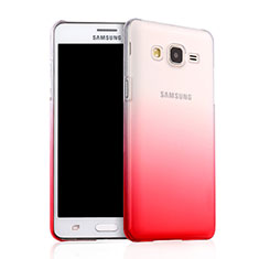 Transparent Gradient Hard Rigid Case for Samsung Galaxy On5 Pro Red