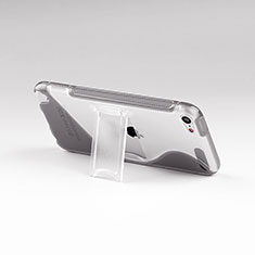 Transparent Silicone Stands S-Line Case for Apple iPod Touch 5 Gray