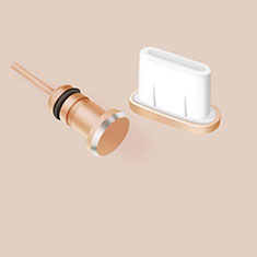 Type-C Anti Dust Cap USB-C Plug Cover Protector Plugy Android Universal Gold