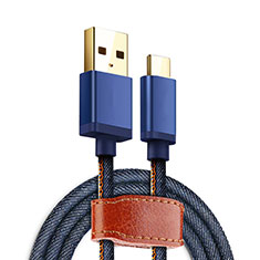 Type-C Charger USB Data Cable Charging Cord Android Universal T10 for Alcatel 5V Blue