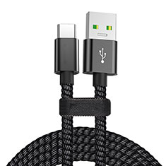 Type-C Charger USB Data Cable Charging Cord Android Universal T24 for Alcatel 5V Black