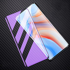Ultra Clear Anti Blue Light Full Screen Protector Tempered Glass F02 for Oppo Reno4 Pro 5G Black