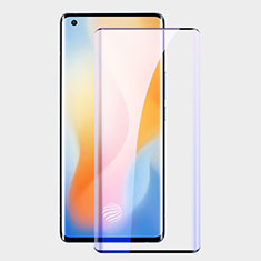 Ultra Clear Anti Blue Light Full Screen Protector Tempered Glass F02 for Vivo X50 Pro 5G Black
