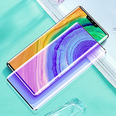 Ultra Clear Anti Blue Light Full Screen Protector Tempered Glass for Huawei Mate 30 Pro Black