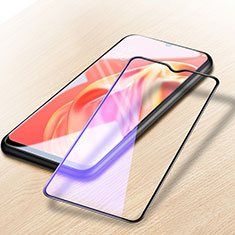 Ultra Clear Anti Blue Light Full Screen Protector Tempered Glass for Oppo A73 5G Black
